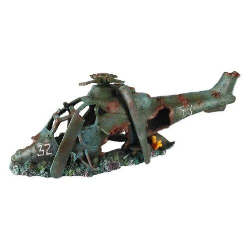 Aqua d'ella Aquarium-Dekoration Hubschrauber 74,5x22,5x25cm Polyresin