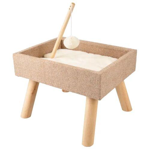FLAMINGO Katzenbett mit Spielzeug Scandi Beige 43,5x40x54,5 cm 560553