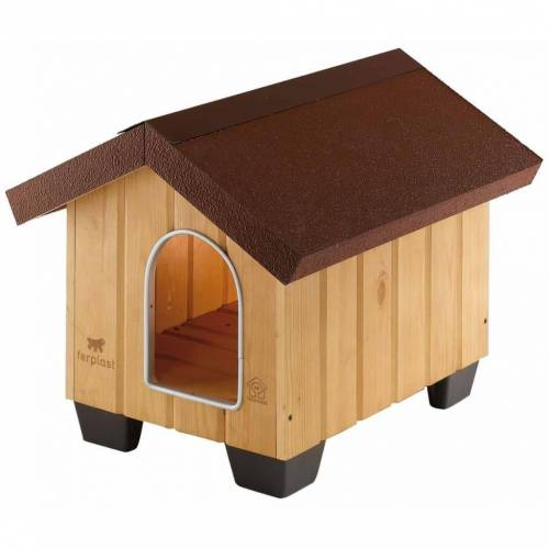 Ferplast Hundehütte Domus Mini Holz 50 x 65 x 47,5 cm 87000000