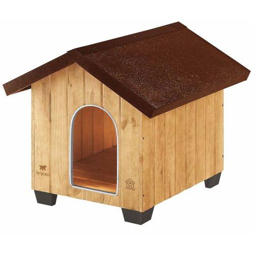 Ferplast Hundehütte Domus Medium Holz 73 x 85 x 67,5 cm 87002000