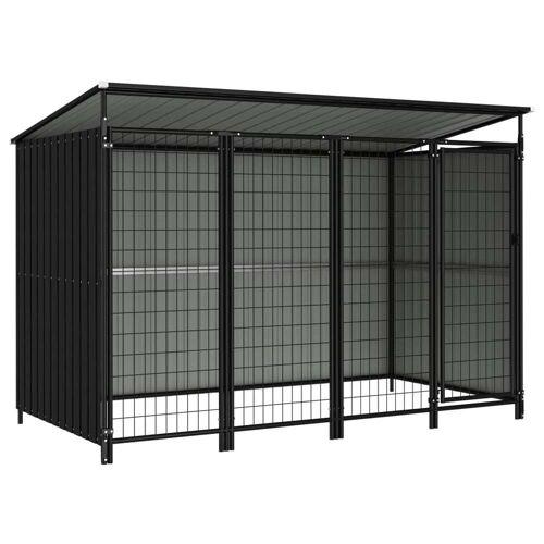 vidaXL Outdoor-Hundezwinger 253×133×163 cm