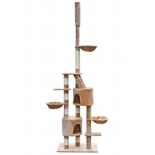 vidaXL XL Kratzbaum Katzen Katzenbaum Sisal 230-260 cm Beige