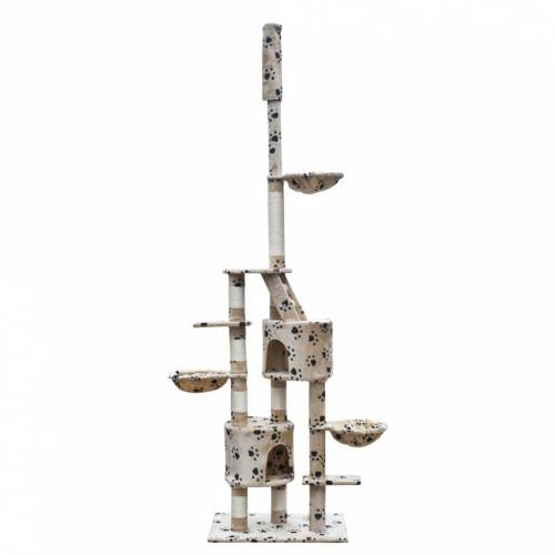 vidaXL XL Kratzbaum Katzenkratzbaum 230-260 cm Beige