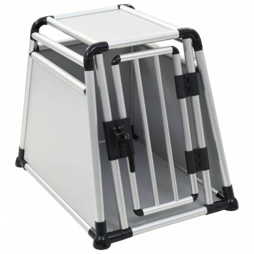 vidaXL Hundetransportbox Aluminium M