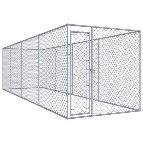 vidaXL Outdoor-Hundezwinger 7,6x1,9x2 m