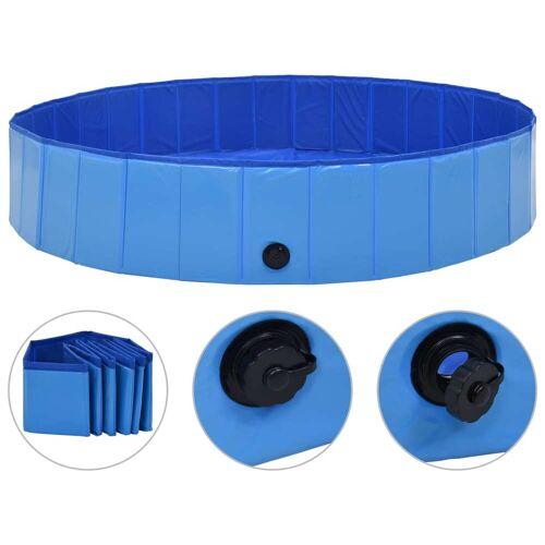 vidaXL Hundepool Faltbar Blau 160 x 30 cm PVC