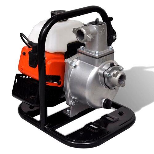 vidaXL Benzinbetriebene Wasserpumpe 2 Takt 1,45 kW 0,95 l
