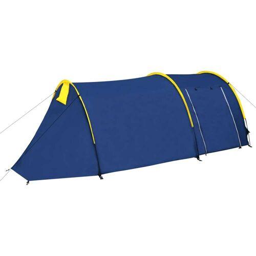 vidaXL Familienzelt Kuppelzelt Campingzelt 4 Personen Blau/Gelb
