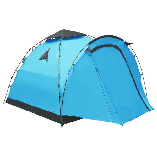 vidaXL Pop-Up-Campingzelt 3 Personen Blau