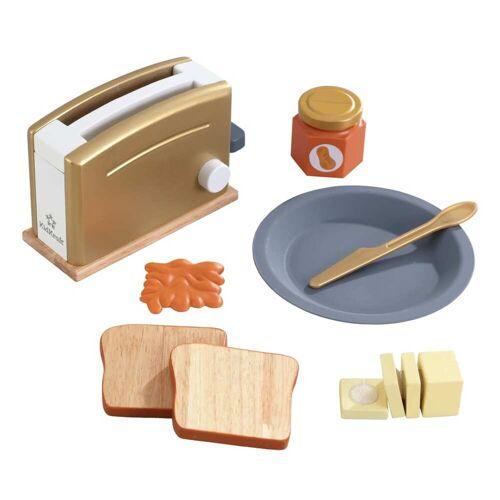 KidKraft 11-tlg. Kinder-Toaster-Set Modern Metallics