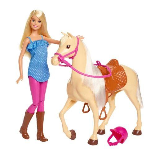 Barbie -Puppe und Pferd mit Zubehör