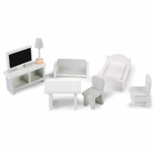 CHILDHOME 8-tlg. Miniaturmöbel-Set Weiß