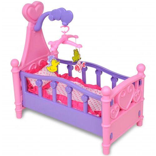 vidaXL Puppenbett Kinderspielzeug Rosa + Lila