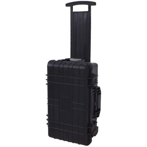 vidaXL Werkzeugkoffer/Gerätekoffer mit Schaumstoffeinlage und Rädern