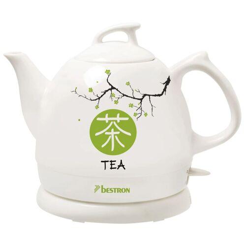 Bestron Keramik-Wasserkocher Asia Lounge DTP800A 0,8 L Weiß Teekanne