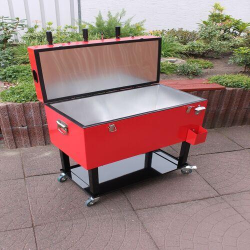 Leco Kicker-Kühlbox, Mini-Kickertisch mit Kühlfach