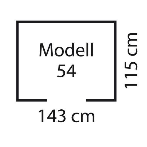 "Pergart Metall-Gerätehaus ""Kiel 54"""