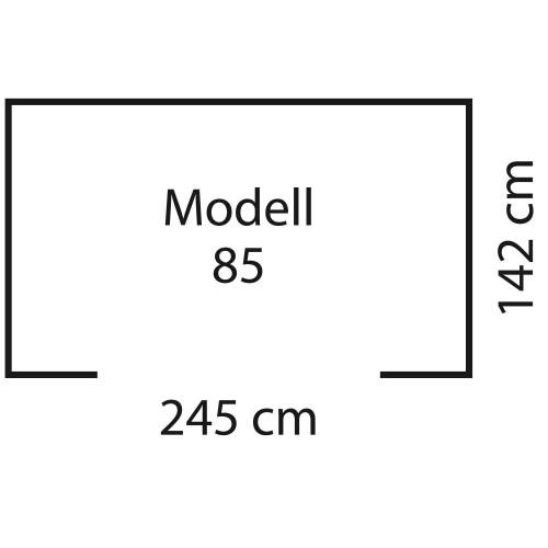 "Pergart Metall-Gerätehaus ""Admiral 85"""