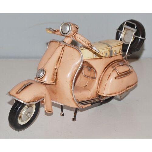 JS GartenDeko Blechmodell Roller Nostalgie Modellauto Oldtimer Marke Vespa Motorroller Modell aus Blech L 22 cm