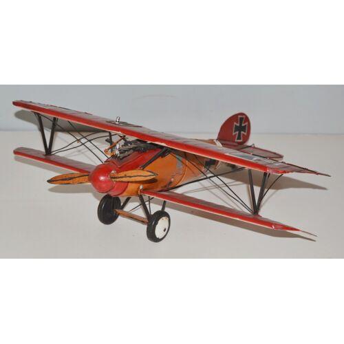 JS GartenDeko Blechflugzeug Nostalgie Modellflugzeug Oldtimer Marke Rote Albatros D.V Flugzeug aus Blech L 45 cm
