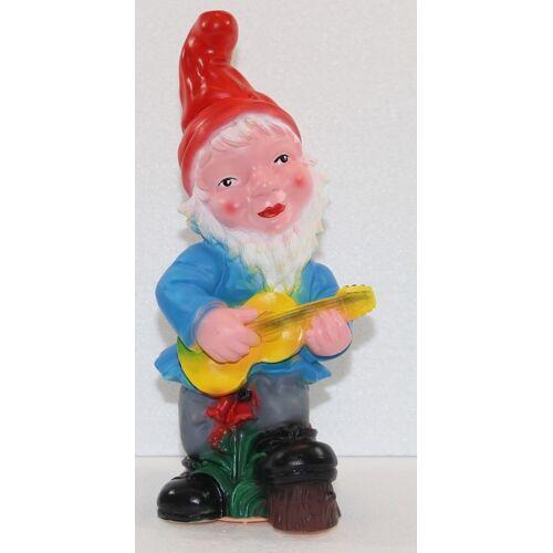OM Gartenzwerg mit Gitarre Figur Zwerg H 33 cm Gartenfigur aus Kunststoff