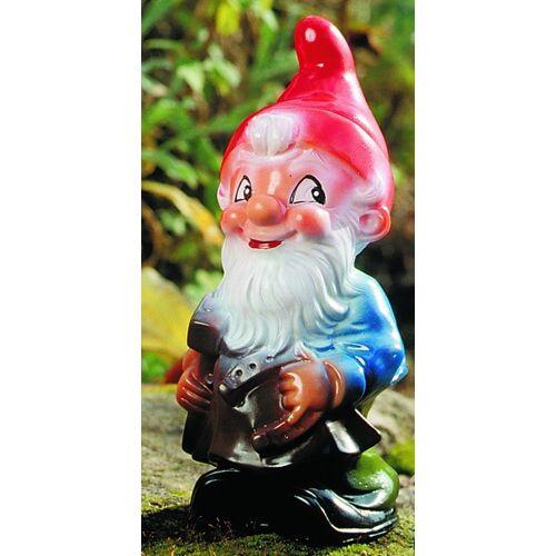 OM Gartenzwerg Schmied Figur Zwerg H 18 cm Gartenfigur aus Kunststoff