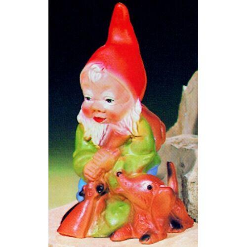 OM Gartenzwerg als Jäger Figur Zwerg H 24 cm Gartenfigur aus Kunststoff