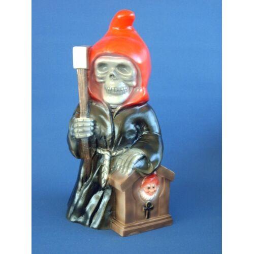 Rakso Gartenzwerg Sensenmann Figur Zwerg H 34 cm aus Kunststoff