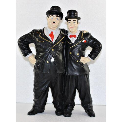 JS GartenDeko Dekfigur Dick und Doof stehend umarmt H 34 cm Deko Figur Komiker Duo Laurel und Hardy aus Kunstharz
