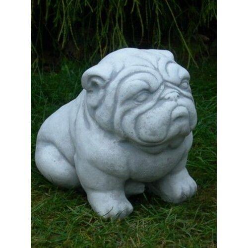 JS GartenDeko Beton Figur Bulldogge H 22 cm Dekofigur und Gartenfigur