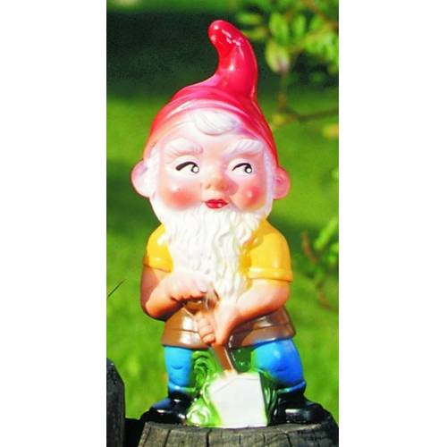OM Gartenzwerg mit Spaten Figur Zwerg H 22 cm Gartenfigur aus Kunststoff