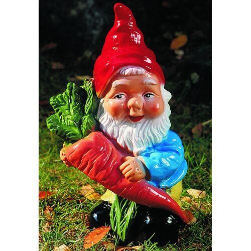 OM Gartenzwerg mit Rübe Figur Zwerg H 35 cm Gartenfigur aus Kunststoff