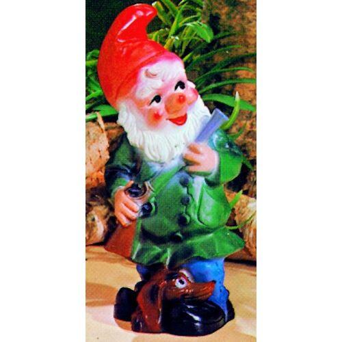 OM Gartenzwerg als Jäger Figur Zwerg H 30 cm Gartenfigur aus Kunststoff