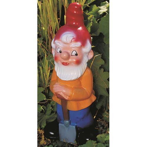 OM Gartenzwerg mit Spaten Figur Zwerg Gärtner H 40 cm Gartenfigur aus Kunststoff