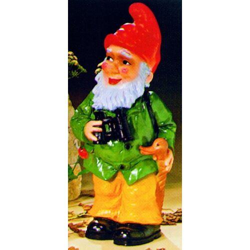 OM Gartenzwerg als Jäger Figur Zwerg H 48 cm Gartenfigur aus Kunststoff