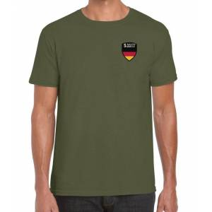 5.11 Tactical 5.11 Shield S/S Tee Germany, Military Green 225 (Gr. S)