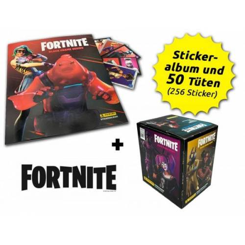 Fortnite Reloaded - Black Frame Series - Sticker - Box-Bundle