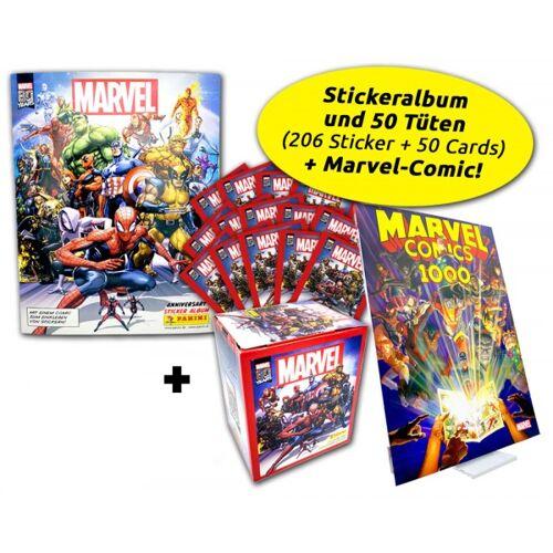 80 Jahre Marvel Ultimate Bundle - Sticker + Marvel 1000 Comic