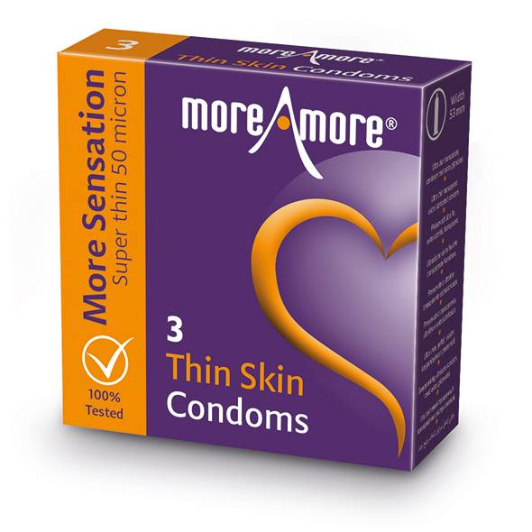 More Amore MoreAmore - Condom Thin Skin (3 pcs)