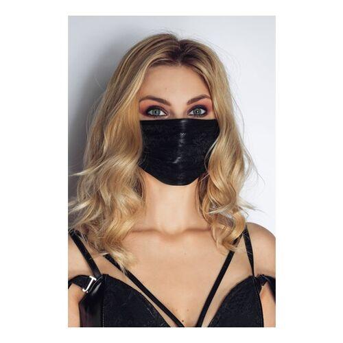 Noir Handmade Stoffmaske mit Spitze