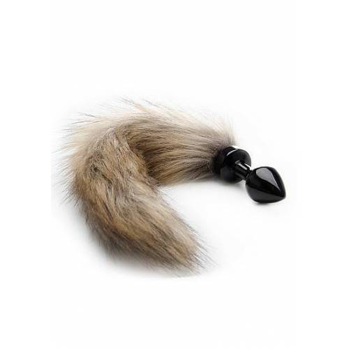 Ouch! Fox Tail Buttplug - Black