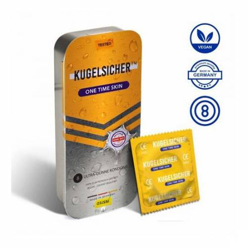 Kugelsicher Kondome One Time Skin (8 Stück)