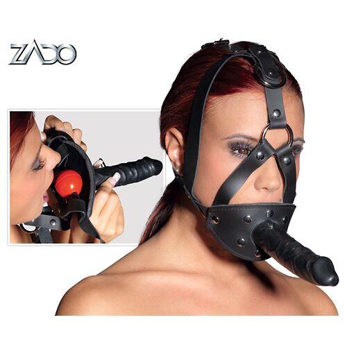 Zado Leder Kopfgeschirr Dildo