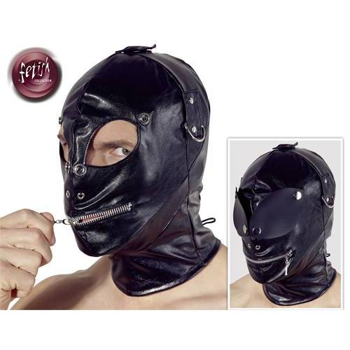 Fetish Lederimitat Maske