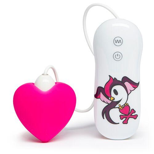 Tokidoki - Silicone Pink Heart Clitoral Vibrator