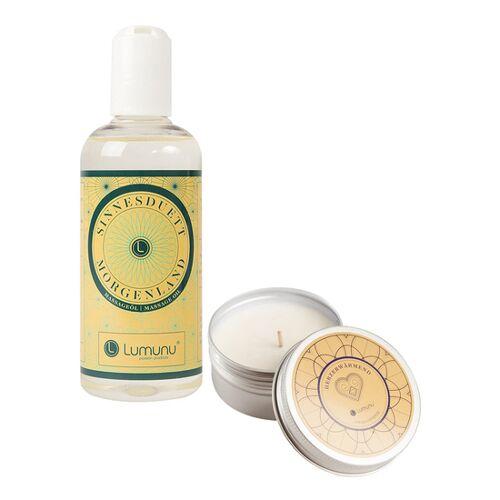 Lumunu Deluxe Massage-Set bestehend aus Massageöl und Massagekerze