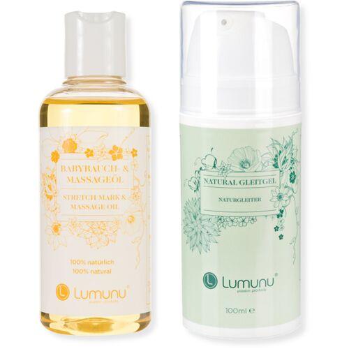 Lumunu Deluxe Set aus Babybauchöl (100ml) & natürlichem Gleitgel (100ml)