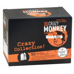 THE CRAZY MONKEY Condoms Crazy Collection 50 St.