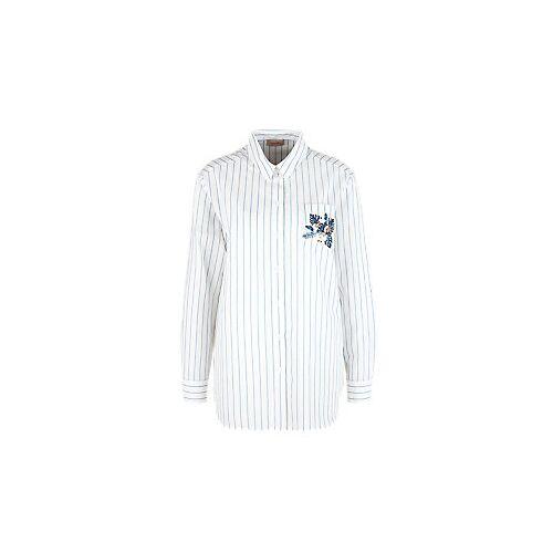 TRIANGLE Nadelstreifen-Bluse Weiß 54