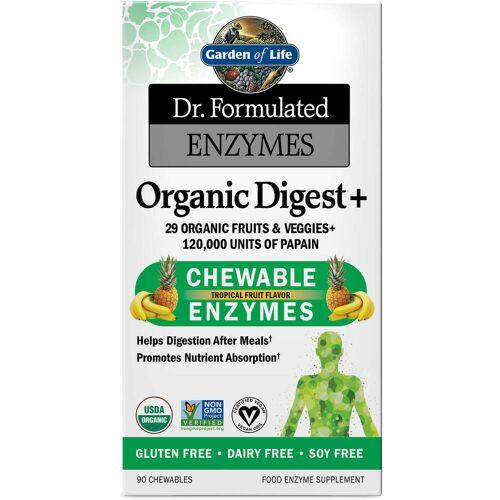 Garden of Life Organische Enzyme Verdauung+ - Tropical Fruit - 90 Kautabletten